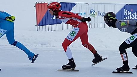 Lisa van der Geest en Sjoerd den Hertog winnaars tweede Grand Prix in Luleå