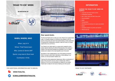 Schaatsweek van 9 juli tot 14 juli Thialf Heerenveen
