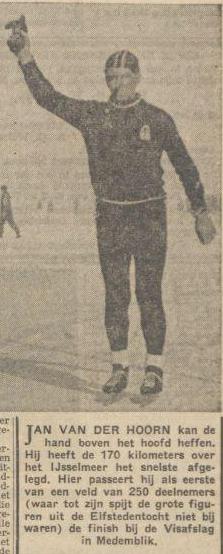 Zaterdag 2 maart 1963: Jan J. van der Hoorn wint Medemblik-Urk-Enkhuizen-Medemblik