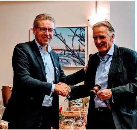 Frans Biemond stopt als voorzitter van de Warmondse IJsclub (WIJC)