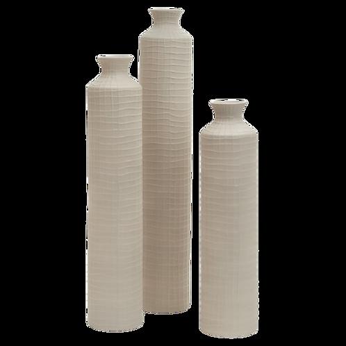 Checker Taupe Vase