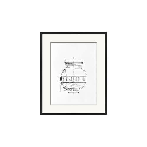 Vase Pencil Drawing
