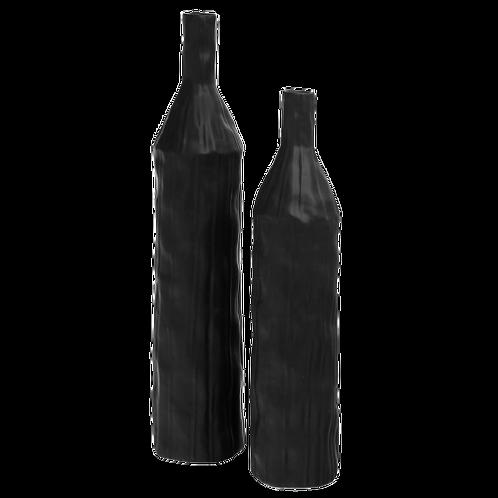 Rocky Black Vases