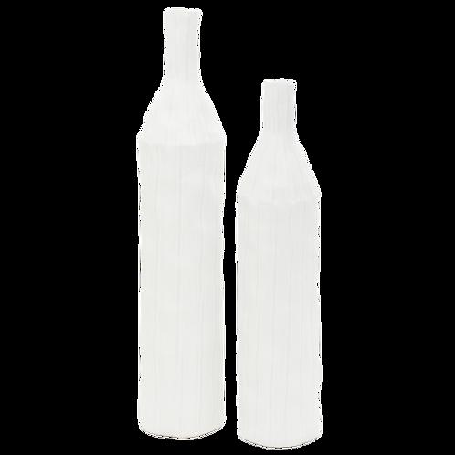 Rocky White Vases