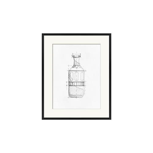 Bottle Pencil Drawing