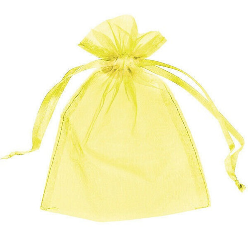 Yellow organza bag