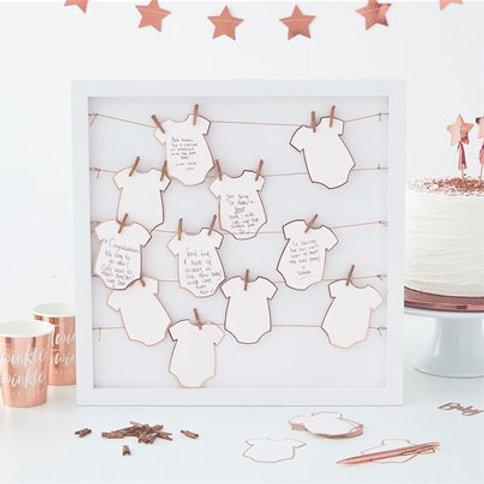 Twinkle Twinkle Babygrow Frame Guestbook - 40cm