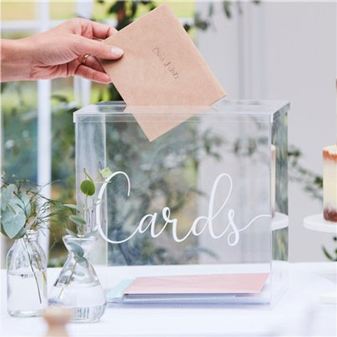 Wedding Clear Acrylic Card Box