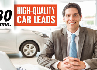 High-Quality Car Leads in 30 Minutes (or less)