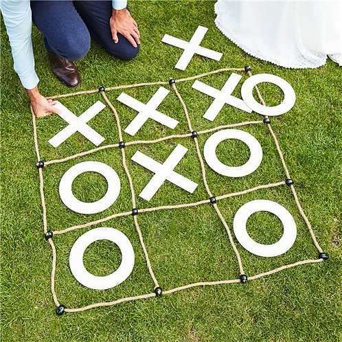 Botanical Wedding Giant Noughts & Crosses Game