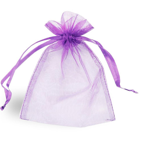 Single Lilac Organza Bag