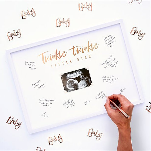 Twinkle Twinkle Signing Frame Guest Book - 44cm