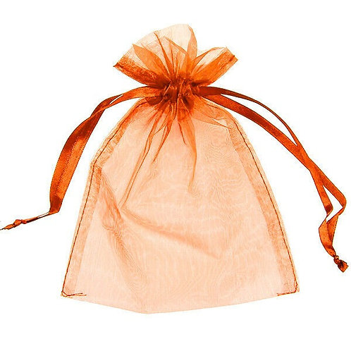 Orange Organza Bag