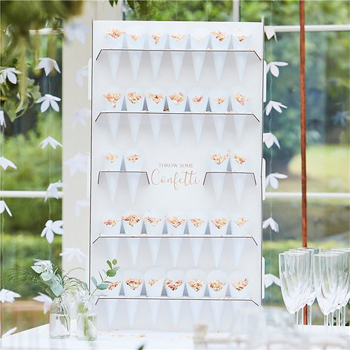 Botanical Wedding Confetti Cone Stand - 72cm