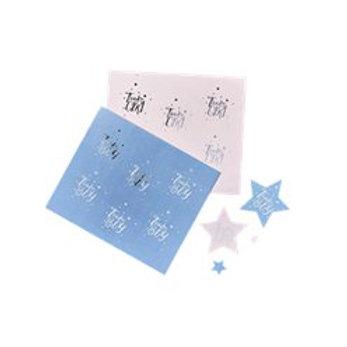 Gender Reveal Team Boy & Team Girl Stickers (24pk)