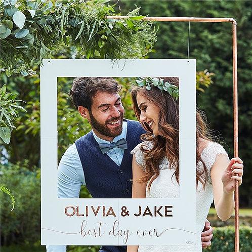 Botanical Wedding Customisable Giant Polaroid Frame