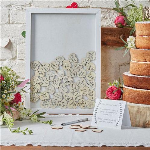 Frame Drop Top Wedding Guest Book Alternative