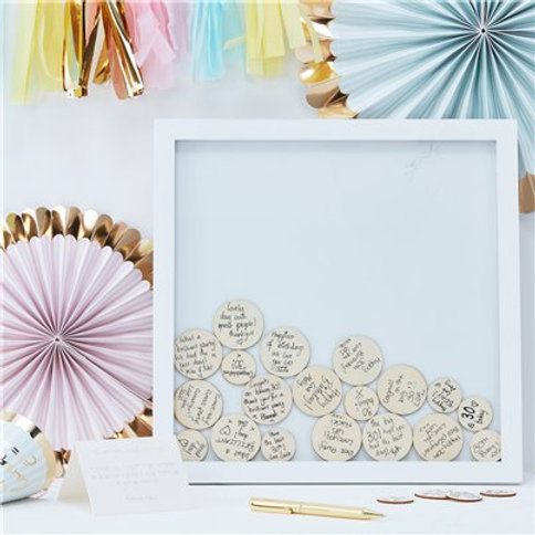 Pick & Mix Pastel Drop Top Frame Guest Book - 36cm
