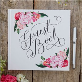 Floral design Guest book