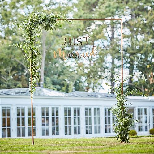 Botanical Wedding Copper Frame Arch - 2m