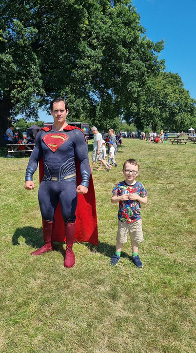 Hanging with Superman
