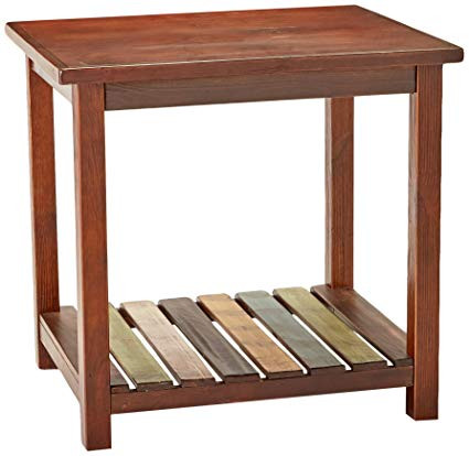 This is the end-table that we used to model our walnut custom desk build after.
