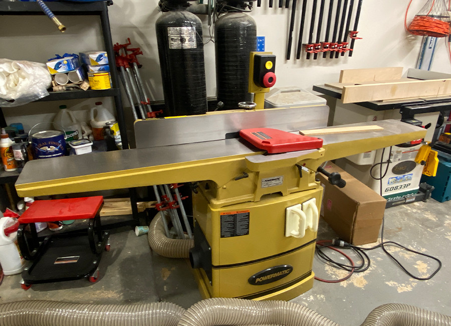 This is our Powermatic 8 inch helical head jointer.