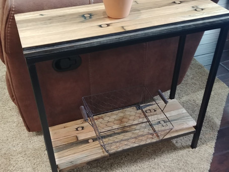 Industrial Modern End Tables (and Collaboration!)