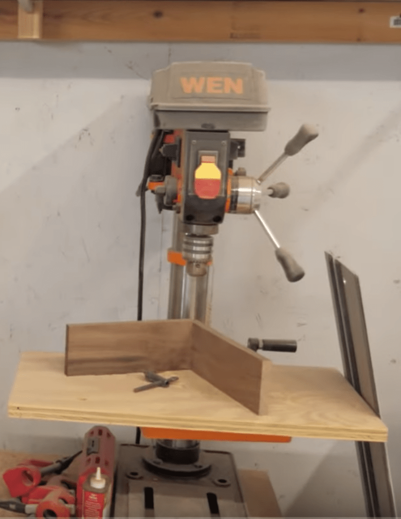 This is the first drill press we bought for our woodworking business.