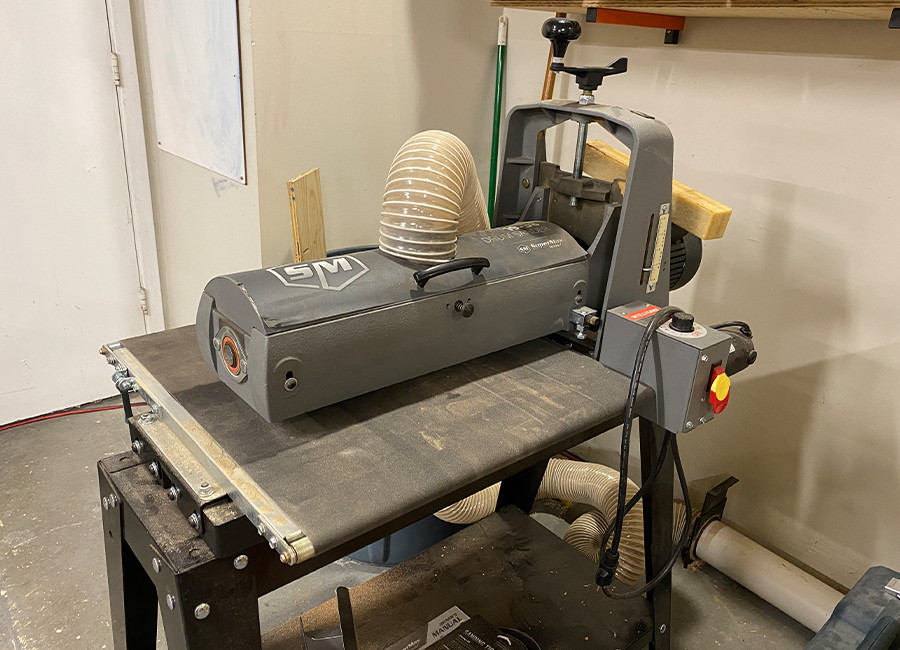 This is our super max drum sander.