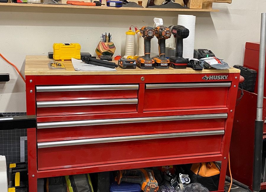 This is our metal tool cabinet.