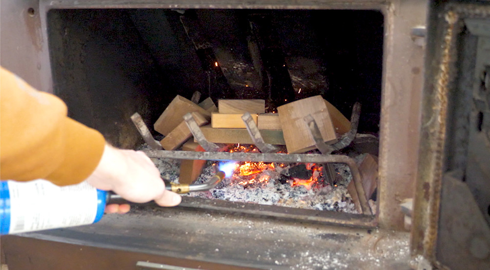 We burned a lot of wood scraps from our woodworking business to keep us warm during the Texas winter storms.