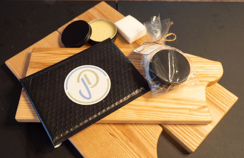 This is our complete serving board refinishing kit that clients can purchase to refinish their serving boards.