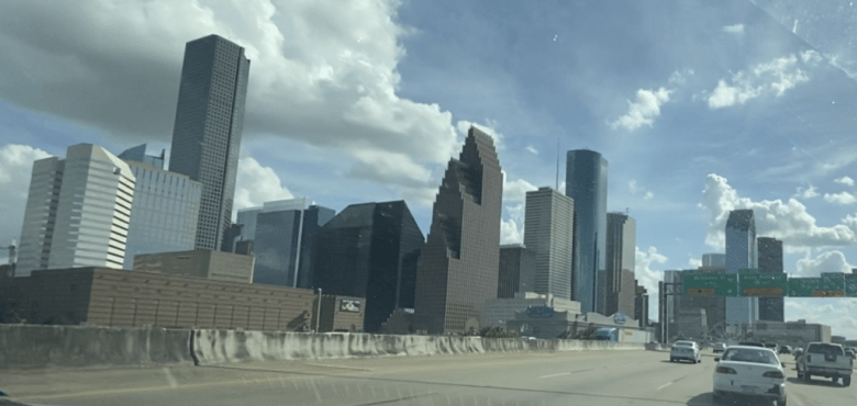 We moved our woodworking business to Houston, Texas. This is the downtown area.