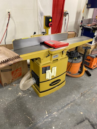 This is our new Powermatic 8 inch helical head jointer.