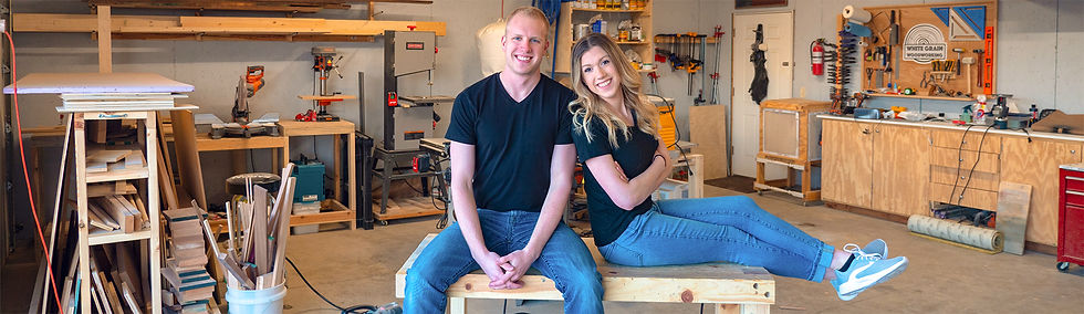 Jennie and Davis Woodworking Business Entrepreneur Military Hurricane Hunter Air Force