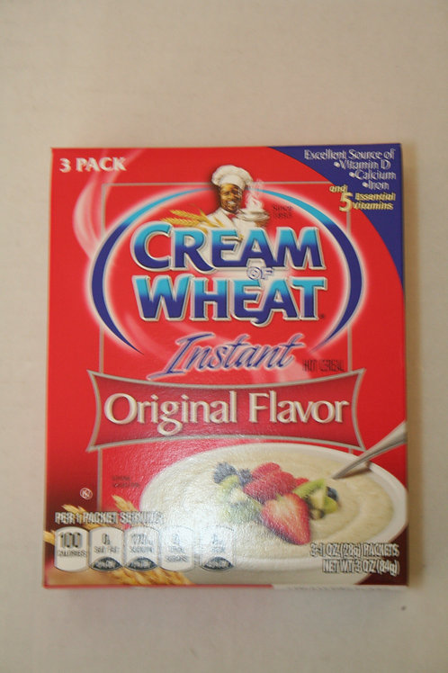 Cream Of Wheat Instant Hot Cereal Original Flavor (3 Packs) in a box 35g