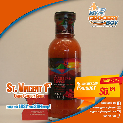 Winfresh Hot Caribbean Pepper Sauce 350ml
