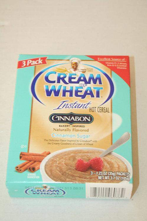 Cream Of Wheat Instant Hot Cereal Cinnamon Sugar  (3 Packs) in a box 35g