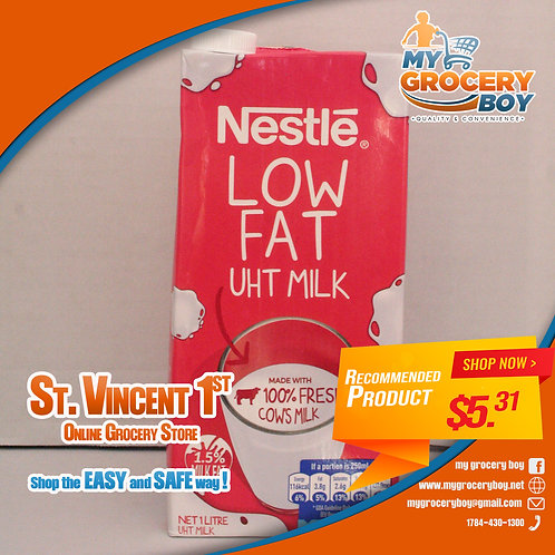 Nestle Low Fat UTH Milk   1LT