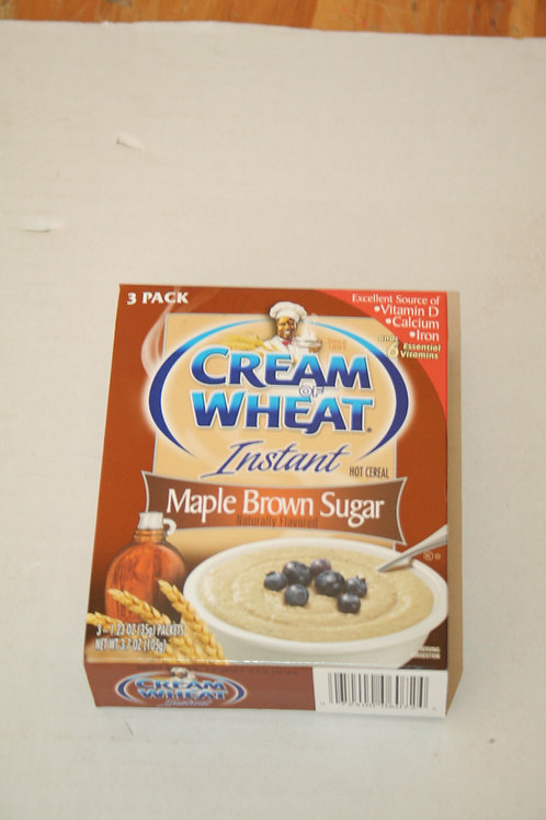 Cream Of Wheat Instant Hot Cereal Maple Brown Sugar (3 Packs) in a box 35g