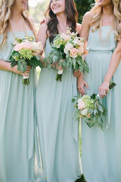 green bridesmaid