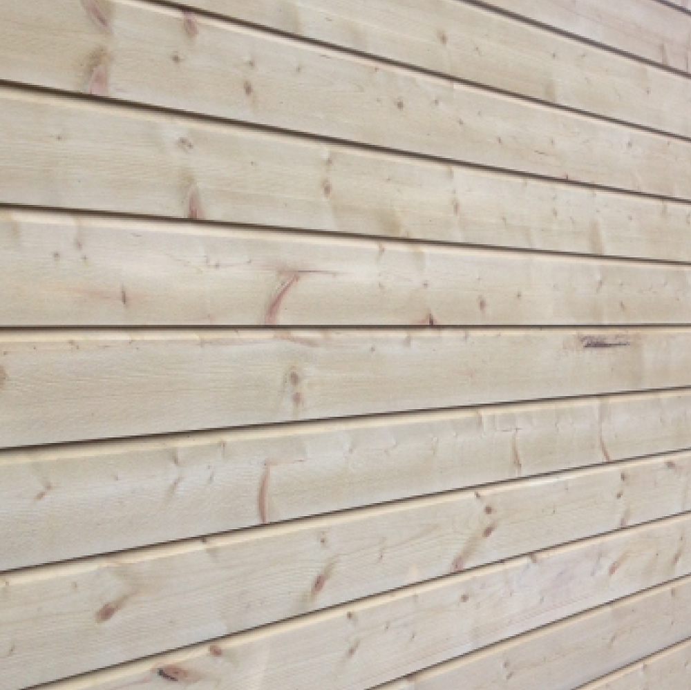 Pine external cladding