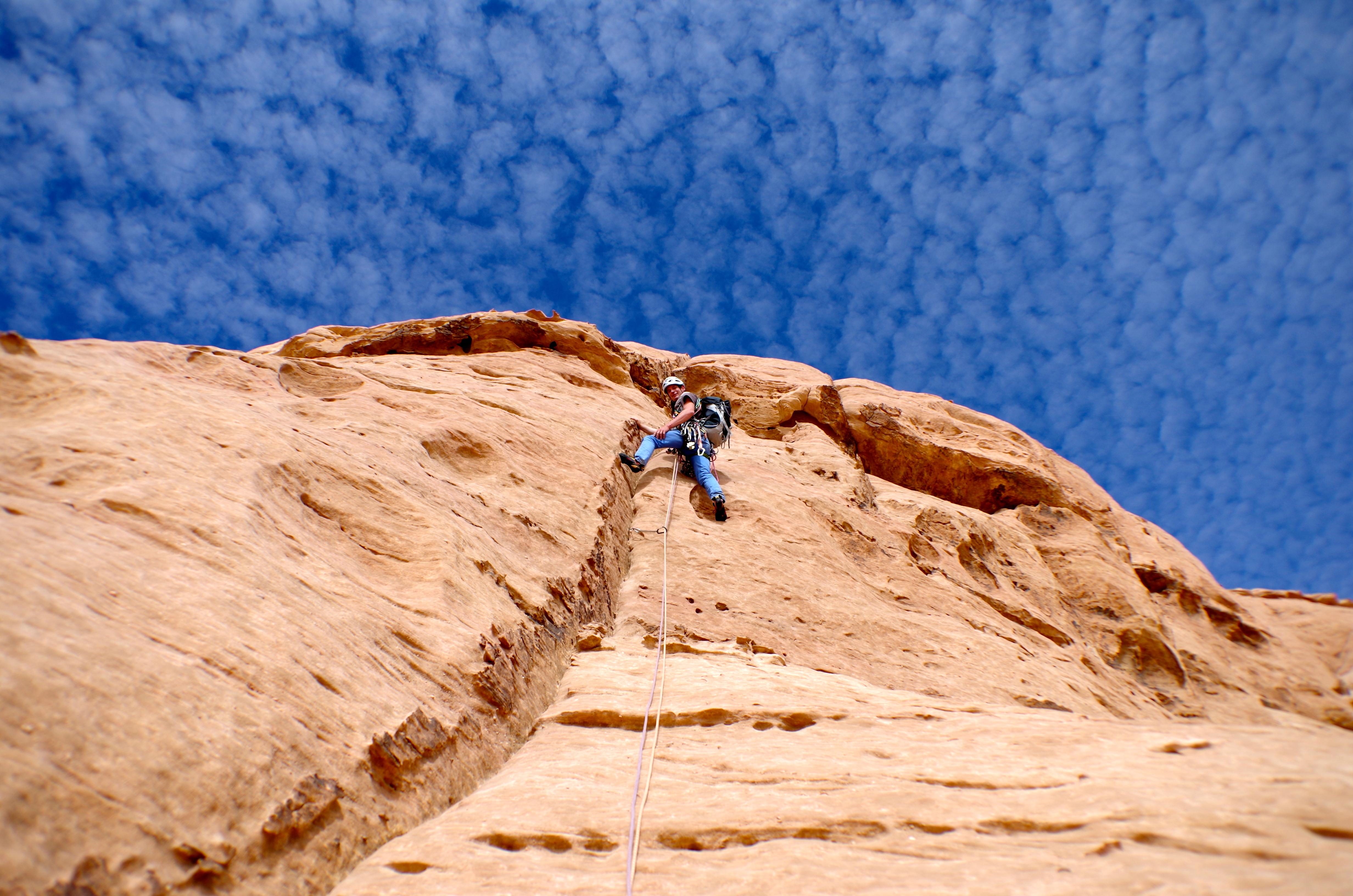 grande voie dans le désert jordanien
