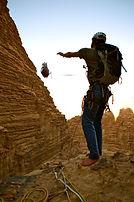 rappel en grande voie jordanie