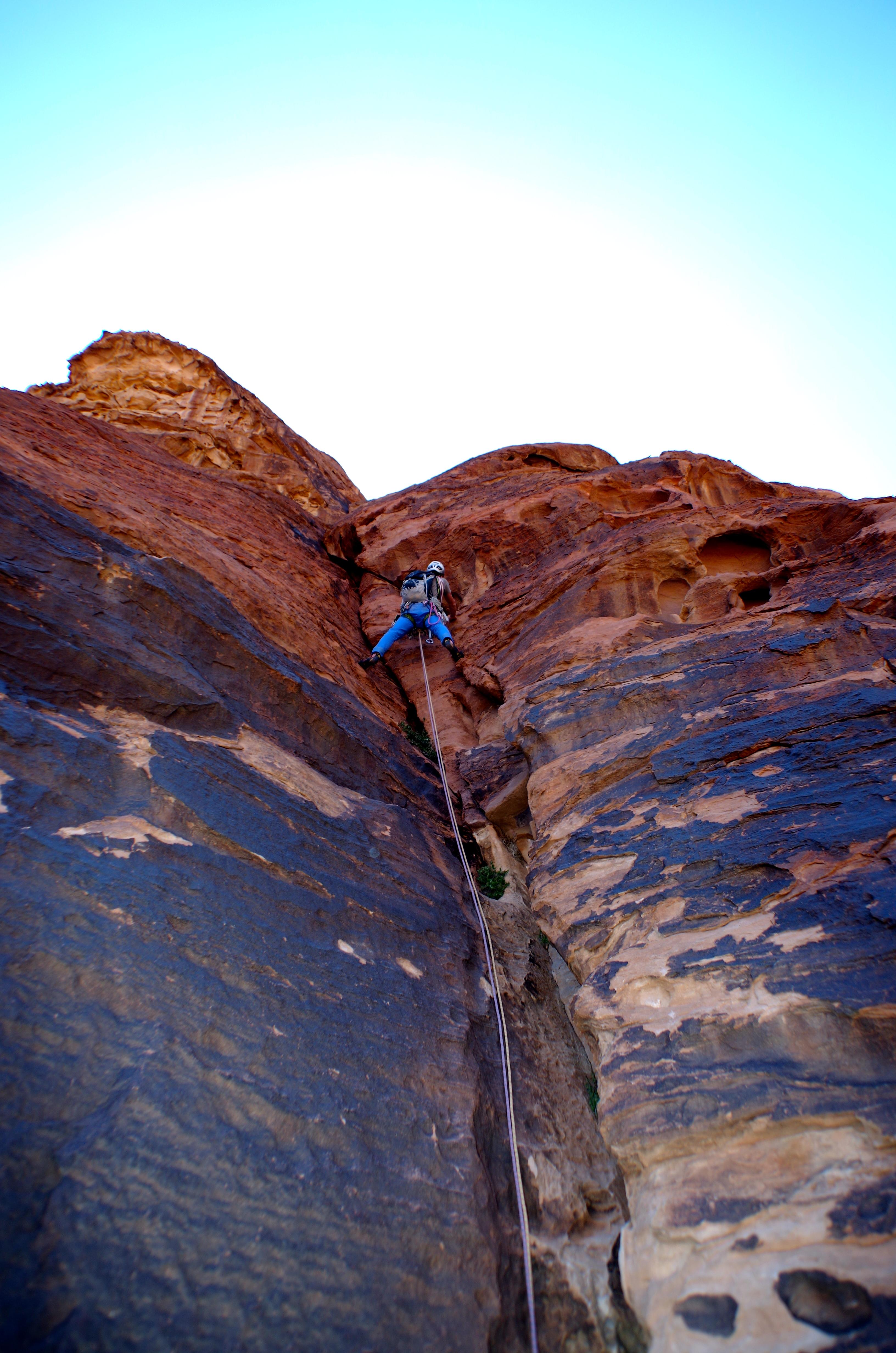 escalade de rêve facile dans le wadi