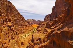 le canyon orange wadi rum jordanie