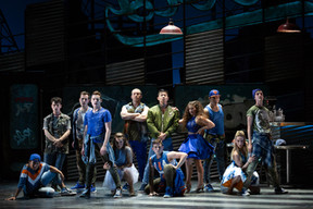 """West Side Story The Glimmerglass Festival, 2018 Karli Cadel  """"The Jets, led by Brian Vu's charismatic Riff, danced and sang in a way that can easily stand up to the classic film's Robbins-supervised dancing."""" - Operawire"""