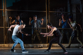 "West Side Story The Glimmerglass Festival, 2018 Karli Cadel  ""Zambello and Monge brought out some fine performances. At the top of the list: Brian Vu's Riff…"" - Broadway World"