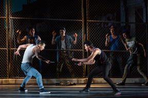"""West Side Story The Glimmerglass Festival, 2018 Karli Cadel  """"Zambello and Monge brought out some fine performances. At the top of the list: Brian Vu's Riff…"""" - Broadway World"""